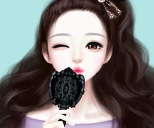 art, black, and Enakei image