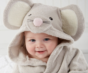 grey, baby hooded towels, and 0-12 months : baby image