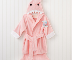 baby aspen, pink, and pink shark robe image