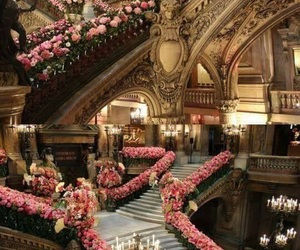 flowers, luxury, and architecture image