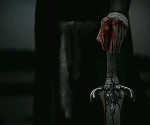 aesthetic, sword, and blood image