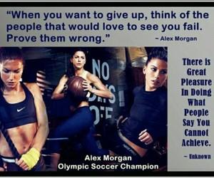 motivation, soccer, and alex morgan image