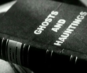 ghost, book, and haunting image