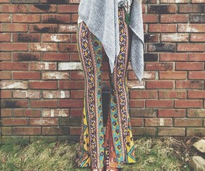 bell bottoms, festival, and indie image