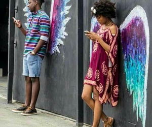 art, wings, and angel image
