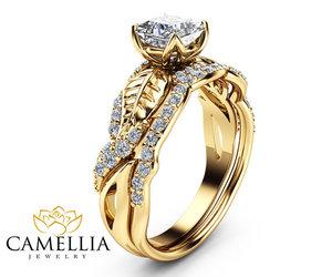 diamond ring, engagementrings, and moissanitering image