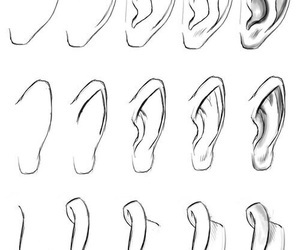 ear, drawing, and draw image
