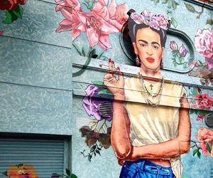 art, frida kahlo, and street art image
