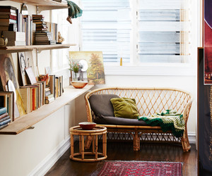 home, interior design, and reading nook image