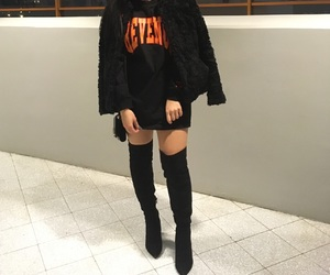 black, outfit, and revenge image
