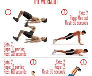 fitness, for men, and workouts image