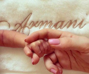 baby, Armani, and family image