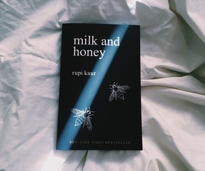 book, milk and honey, and grunge image
