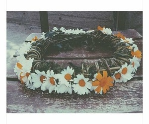 daisy, flowers, and crown image
