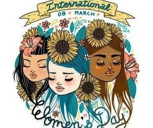 happy, women, and womensday image