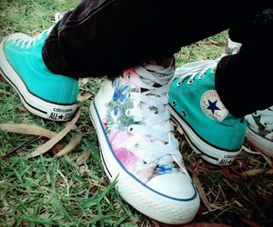 all stars, turquoise, and chuck taylor image