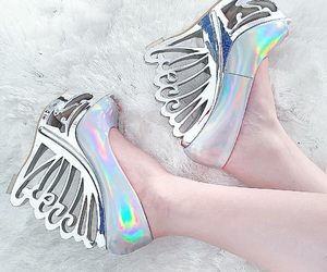 unicorn, heels, and shoes image