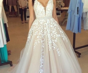 dress, prom dress, and wedding dress image
