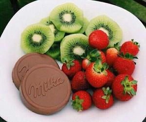food, strawberry, and chocolate image