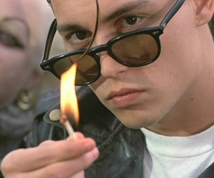 johnny depp, cry baby, and fire image