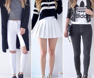 adidas, white, and black image