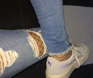 fishnet and jeans image
