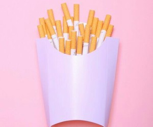 pink, cigarette, and pastel image