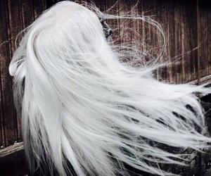 platinum hair, white hair, and not mine image