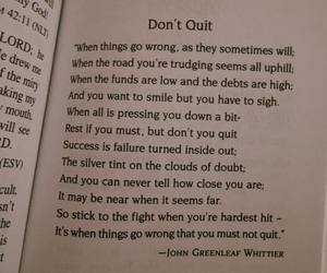 inspiration, poem, and don't quit image