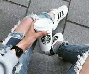 adidas, fashion, and starbucks image