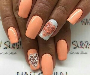 like, nails, and love image