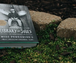 book, green, and library of souls image