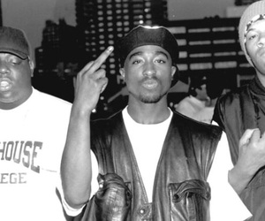 tupac, 2pac, and black and white image
