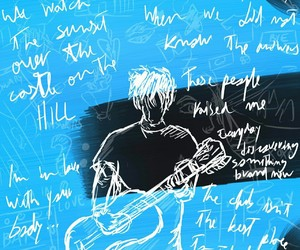 divide, guitar, and music image