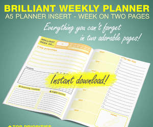 agenda, printables, and planner image