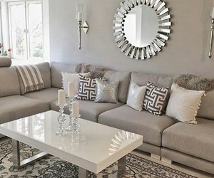 grey, interior, and livingroom image
