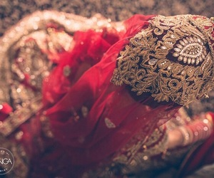 bride, red, and wedding image