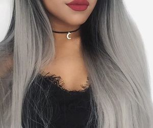 hair, girl, and grey image