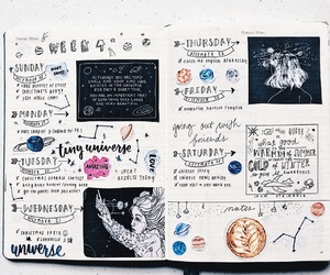 art, study, and bullet journal image
