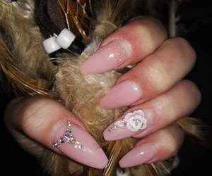shiny, sparkle, and pink+nails image