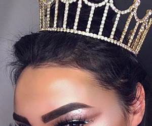 crown, makeup, and beauty image