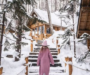cabin, cozy, and fashion image