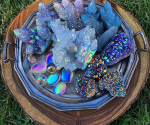 crystal, holographic, and beautiful image