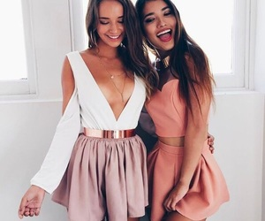 fashion, girls, and smile image