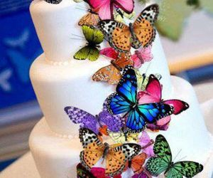 cake decoration, butterfly cake, and etsy image
