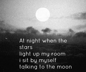 moon, quote, and stars image