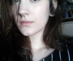 bangs piercing girl image