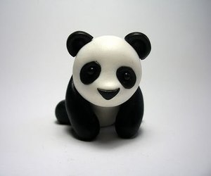 fimo, panda, and porcelana fria image
