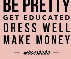 quotes, pink, and bossbabe image
