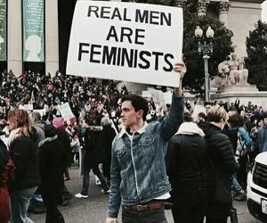 feminist, feminism, and men image